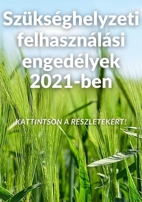 Szükséghelyzeti engedélyek 2021-ben